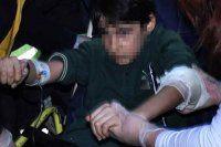 Okulda koluna kapı kolu saplandı
