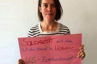 Almanya'yı karıştıran Kobani pankartı
