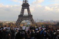 Paris'te Ferguson gösterisi