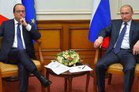 Putin, Hollande ile görüştü