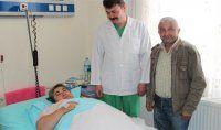 140 kiloluk hastaya böbrek taşı ameliyatı