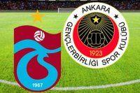 Trabzonspor, Gençlerbirliği maçında ilk 11'ler belli oldu