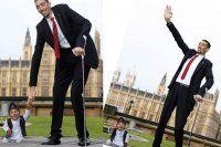 Dünyanın en uzun ve en kısa adamı buluştu
