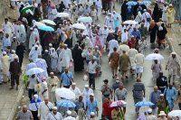 Hacılara yağmur sürprizi