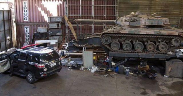 Brezilya'daki bu çetenin tankı bile var