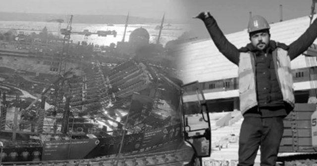 Vodafone Arena inşaat ekibinden 'Sabret' mesajı