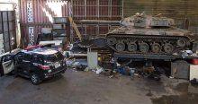 Çalıntı araç operasyonunda tank bulundu