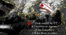 NASA Eskişehir depremini önceden tespit etti