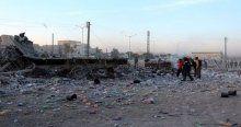 Suriye'de pazar yerine varil bombalı saldırı, 65 ölü
