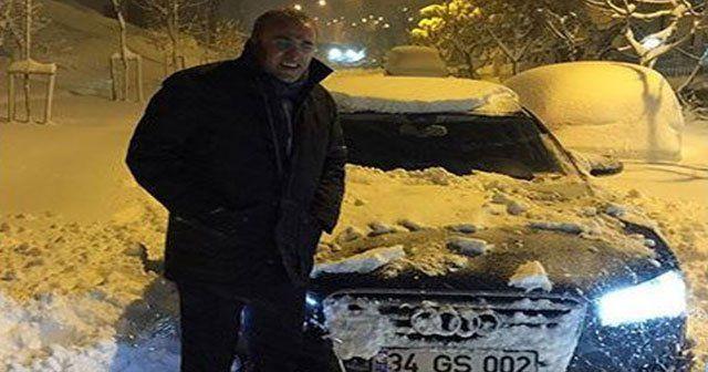 Abdurrahim Albayrak karda mahsur kaldı