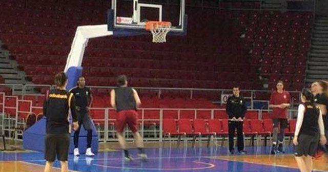 Galatasaray antrenmanında şaşırtan görüntü
