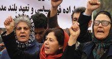 Afganistan'da kadına şiddet protesto edildi