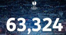 Beşiktaş seyirci rekoru kırdı, UEFA rekoru resmen açıkladı