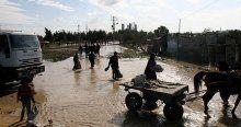 Gazze'yi bu kez 'kış' vurdu