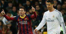 Messi, attığı 3 golle Ronaldo'yu yakaladı