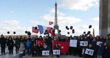 Paris'te Özgecan Aslan için eylemi