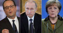 Putin Hollande ve Merkel Ukrayna'daki krizi görüştü
