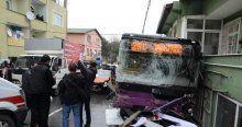 Sarıyer'de halk otobüsü kazası, 2 ölü 8 yaralı