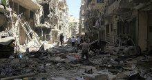 Suriye ordusu Halep'i varil bombasıyla vurdu