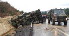 Tekirdağ'da askeri araç devrildi, 3 yaralı