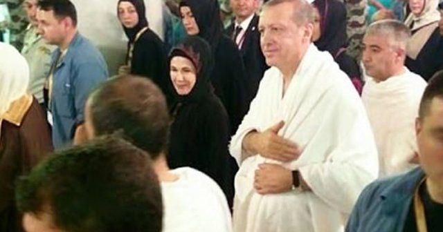 Cumhurbaşkanı Erdoğan sa'y yaparken görüntülendi!