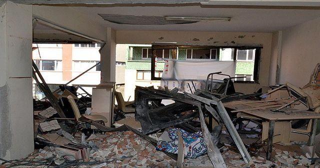 Patlamanın olduğu binada çökme tehlikesi