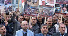 Brüksel'de Yezidiler DAEŞ'i protesto etti