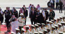 Cumhurbaşkanı Erdoğan Riyad'da askeri törenle karşılandı
