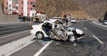 Gümüşhane'de trafik kazası, 3 ölü