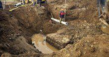 Kanalizasyon kazısında bulundu