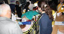Okul servisi yan yattı, 9'u öğrenci 10 kişi yaralandı