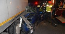 TEM'de kaza, 1 ölü 3 yaralı