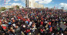 Tunus teröre karşı yürüyor