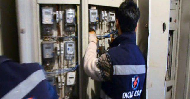 Diyarbakır'da lüks sitelere kaçak elektrik operasyonu