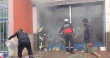 Depoda yangın çıktı