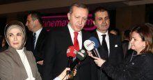 Erdoğan, eşi Emine Erdoğan ile sinemaya gitti