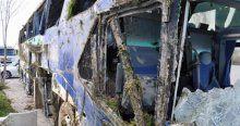 Eskişehir'de yolcu otobüsü devrildi, yaralılar var