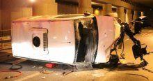 Haliç Kongre Merkezi önünde feci kaza