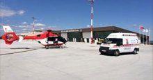 Helikopter ambulansı, minik bebek için geldi