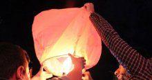 Silopi'de elektrik kesintisine dilek balonlu protesto