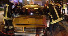 Sivas'ta otomobiller çarpıştı, 2 yaralı