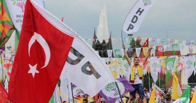 Alanda Öcalan posteri ve Türk bayrakları