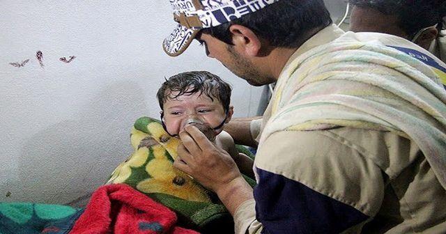 Esad güçleri çocukları 'klorin gazı' ile vurdu