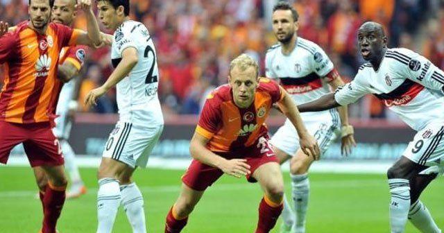 Galatasaray Beşiktaş derbisi ilk yarı özeti, GS BJK maçı golü