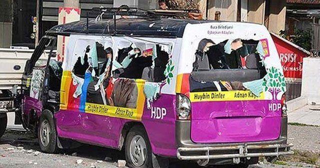 HDP seçim aracına molotoflu saldırı