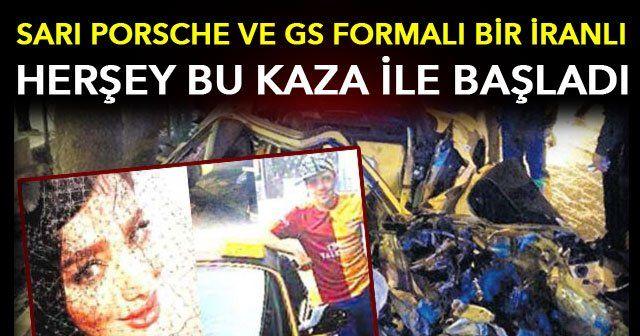 İran'da sarı Porsche kazası! Ülke bunu konuşuyor