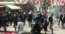 Beşiktaş'ta polis müdahalesi başladı