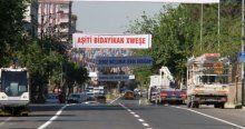 Diyarbakır'da dikkat çeken Erdoğan pankartları