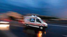 Esenler'de minibüs 20 metreden uçtu, 4 yaralı