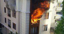 Evde bulunan oksijen tüpü bomba gibi patladı